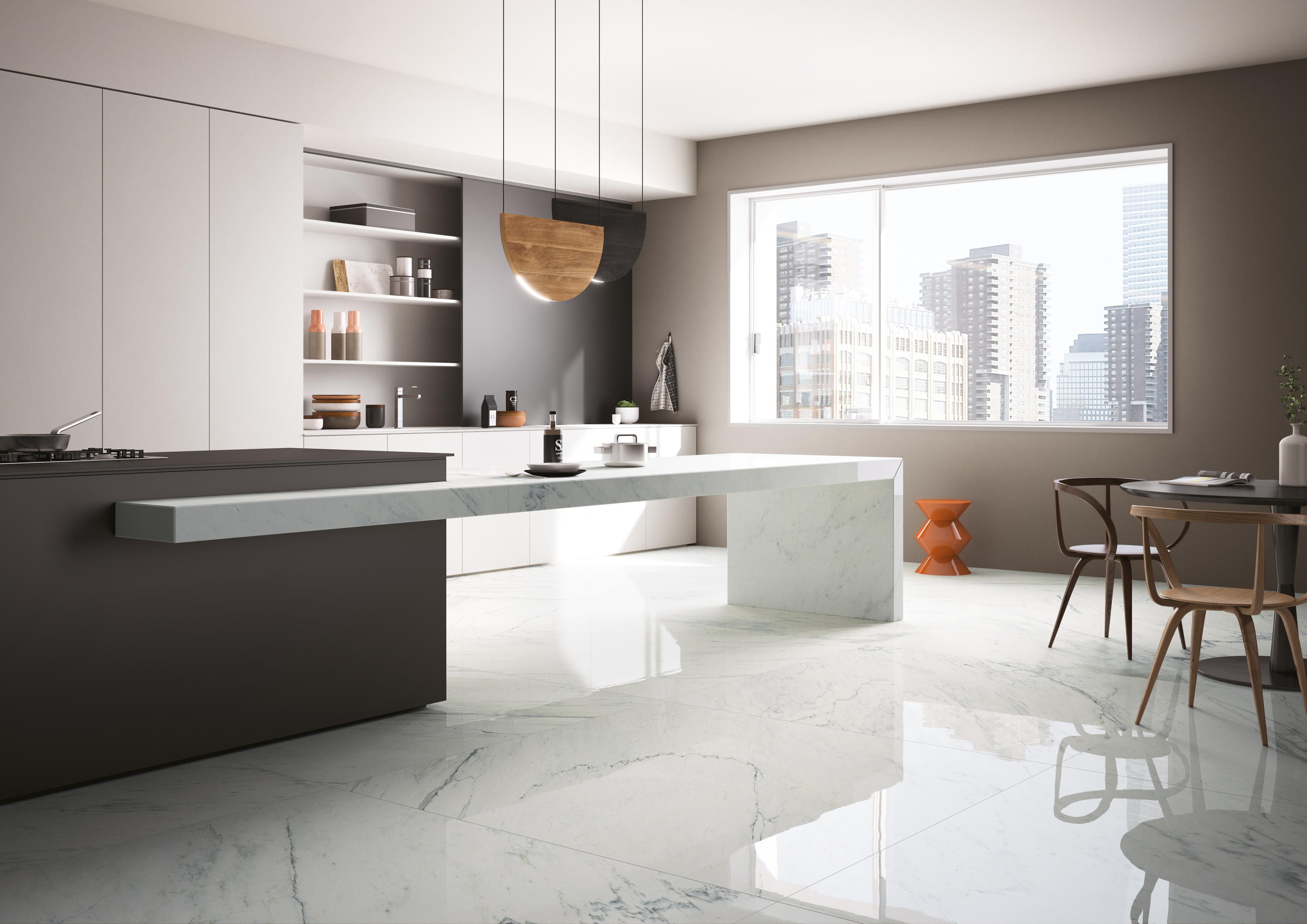 Marmi maximum pietra grey ceramic tiles from for Tappeti per cucine moderne