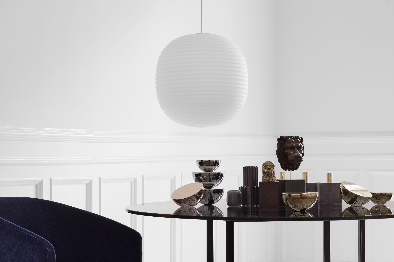Lantern Pendant Frosted White Opal Glass Medium Architonic