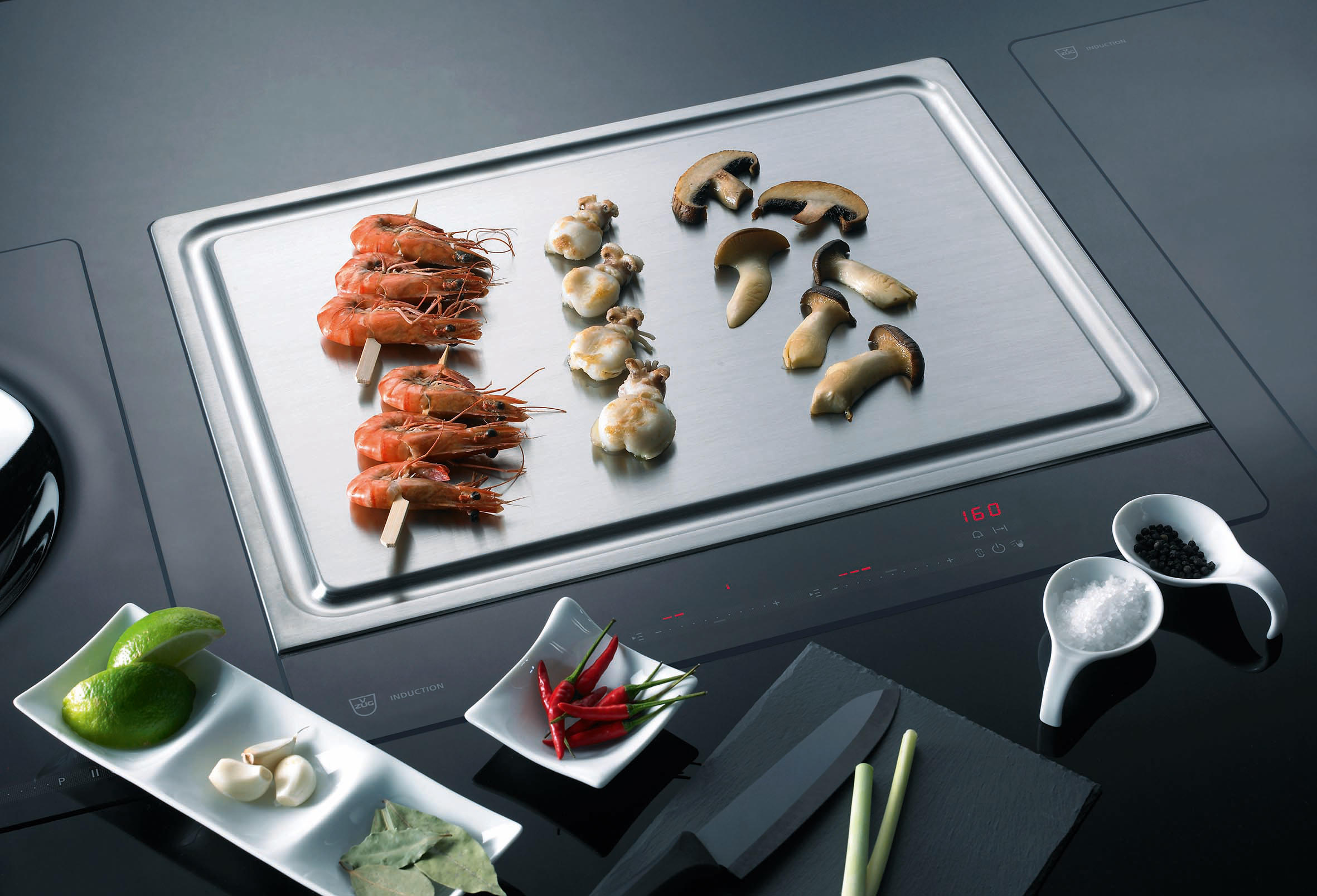 teppan yaki gk16tiys 1f slider hobs from v zug architonic. Black Bedroom Furniture Sets. Home Design Ideas