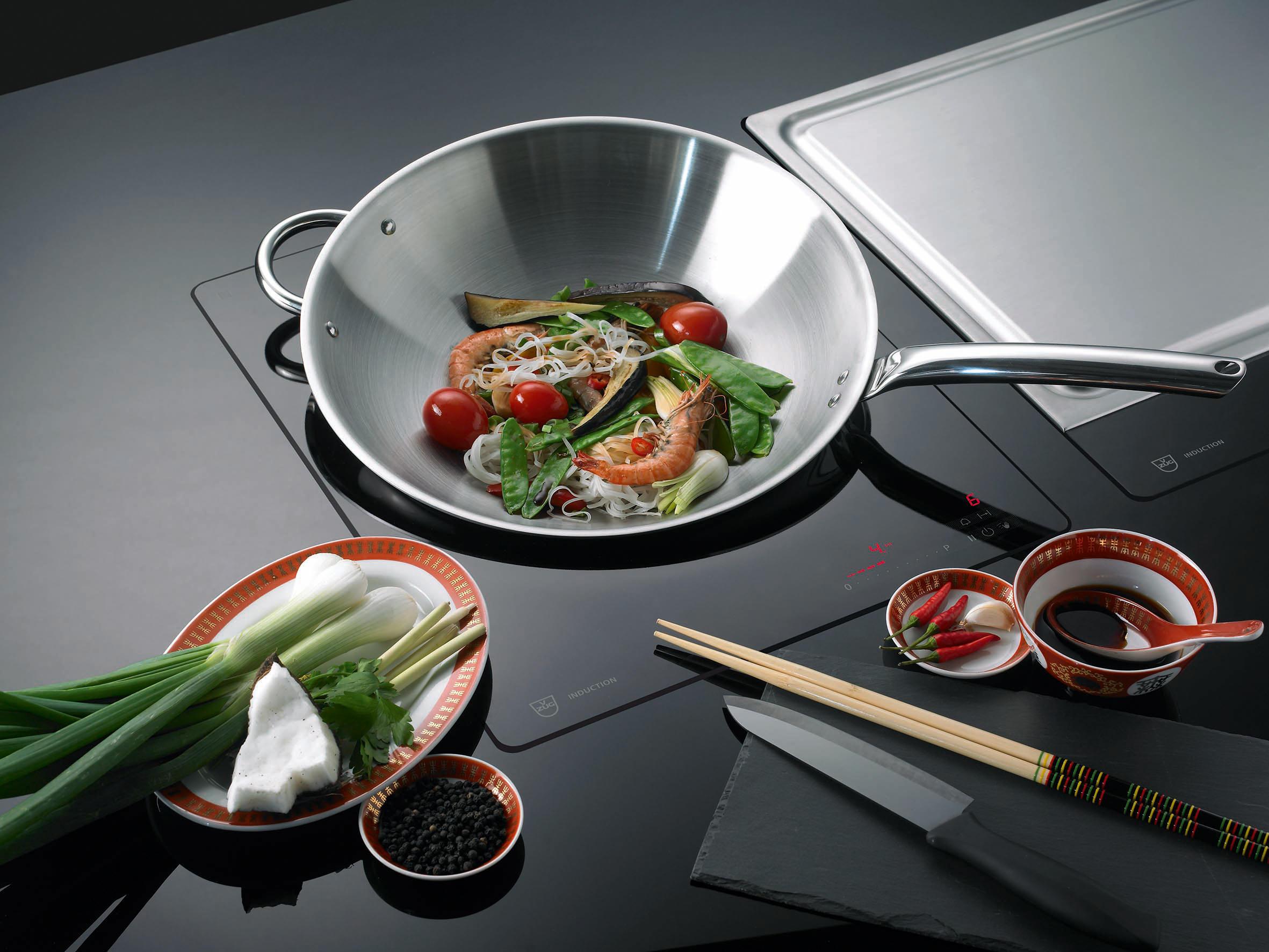 induction wok gk16tiws 1f slider hobs from v zug architonic. Black Bedroom Furniture Sets. Home Design Ideas