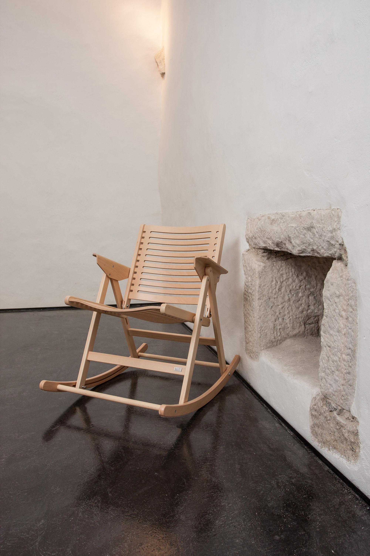 REX ROCKING CHAIR DARK BROWN Garden chairs from Rex Kralj