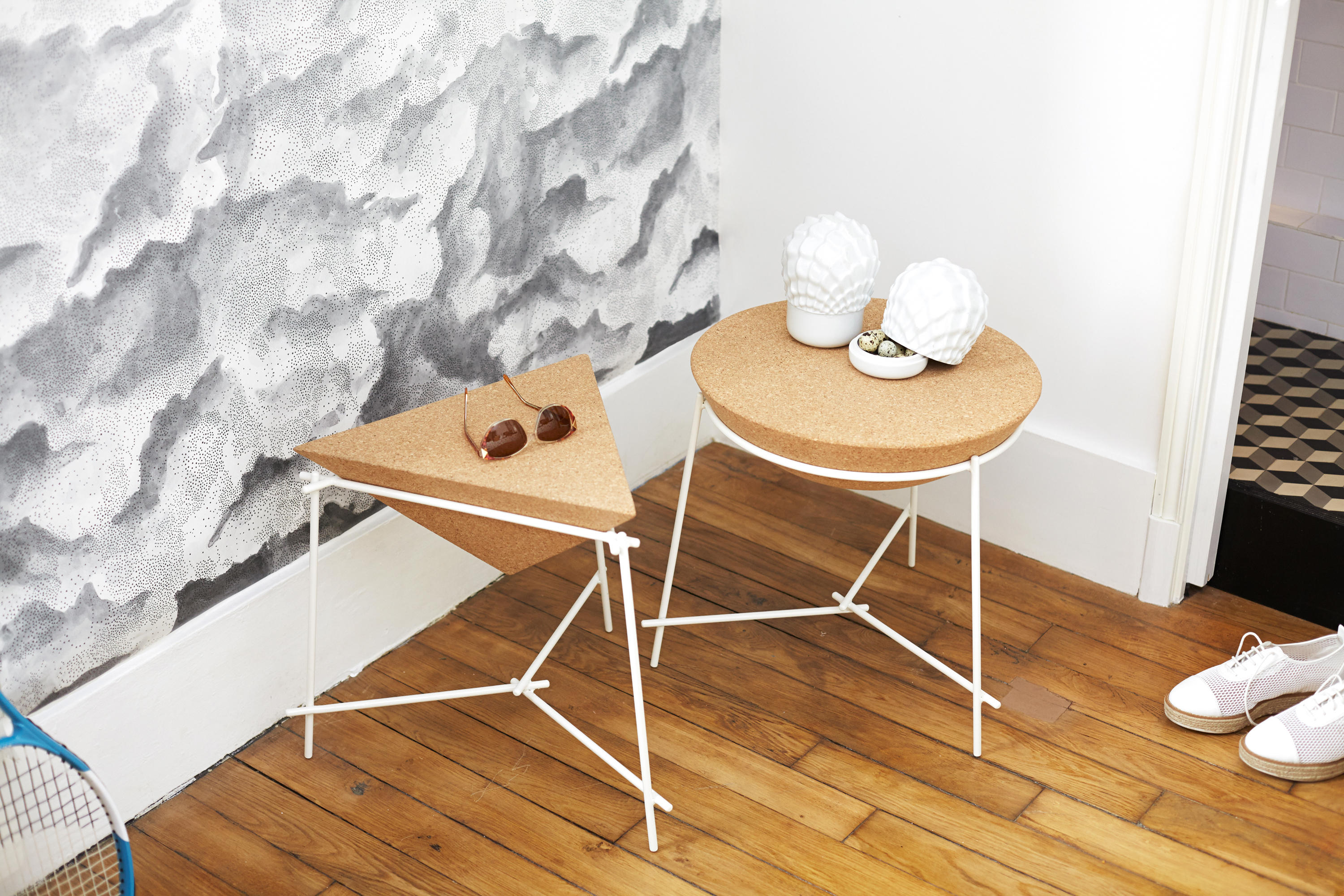 BASIL TRAPEZE Side tables from Petite Friture