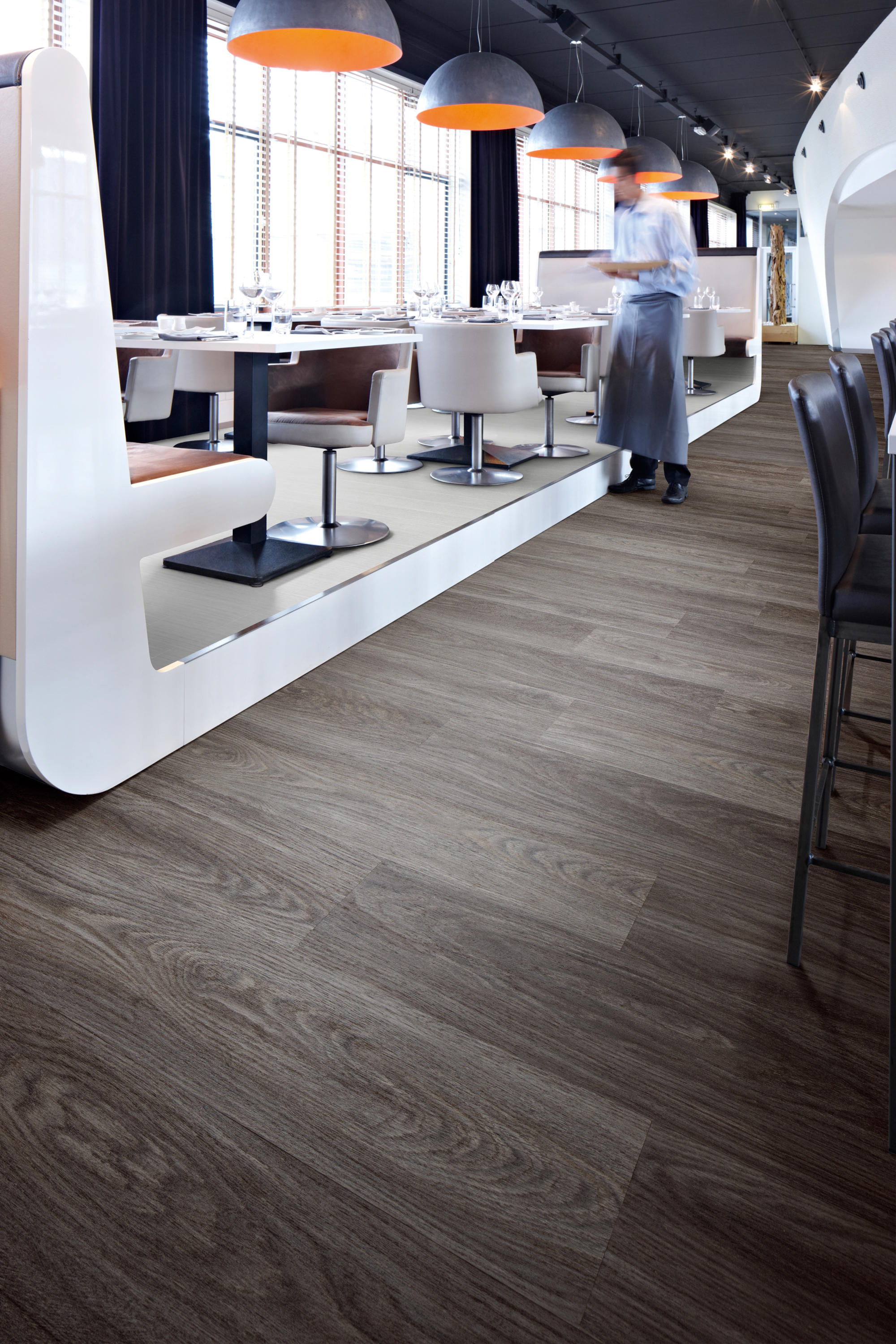 Allura Wood White Seagrass Synthetic Tiles From Forbo