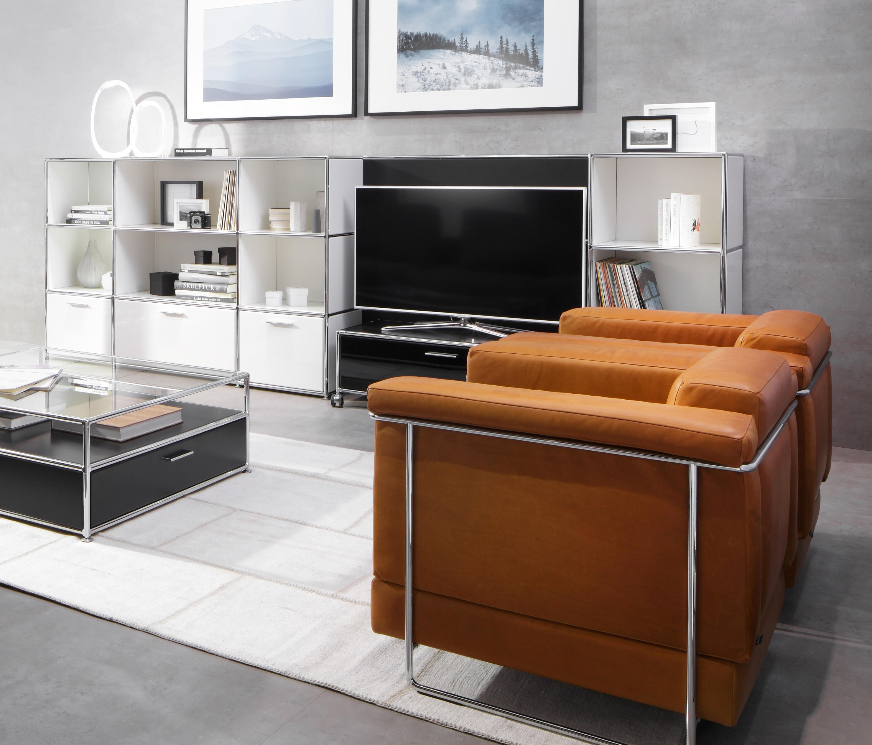 tv regalkombination multimedia sideboards von dauphin home architonic. Black Bedroom Furniture Sets. Home Design Ideas