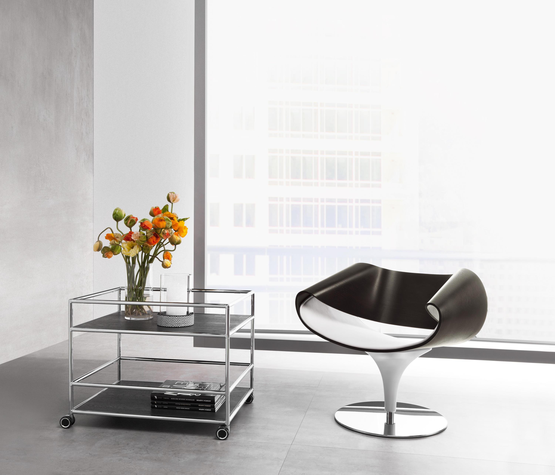servierwagen teewagen barwagen von dauphin home. Black Bedroom Furniture Sets. Home Design Ideas
