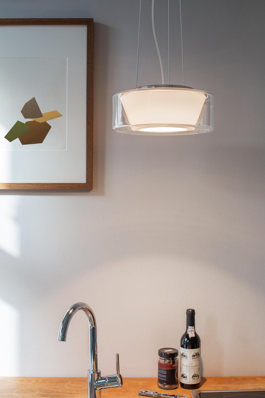 curling suspension clear reflector conical opal tube. Black Bedroom Furniture Sets. Home Design Ideas