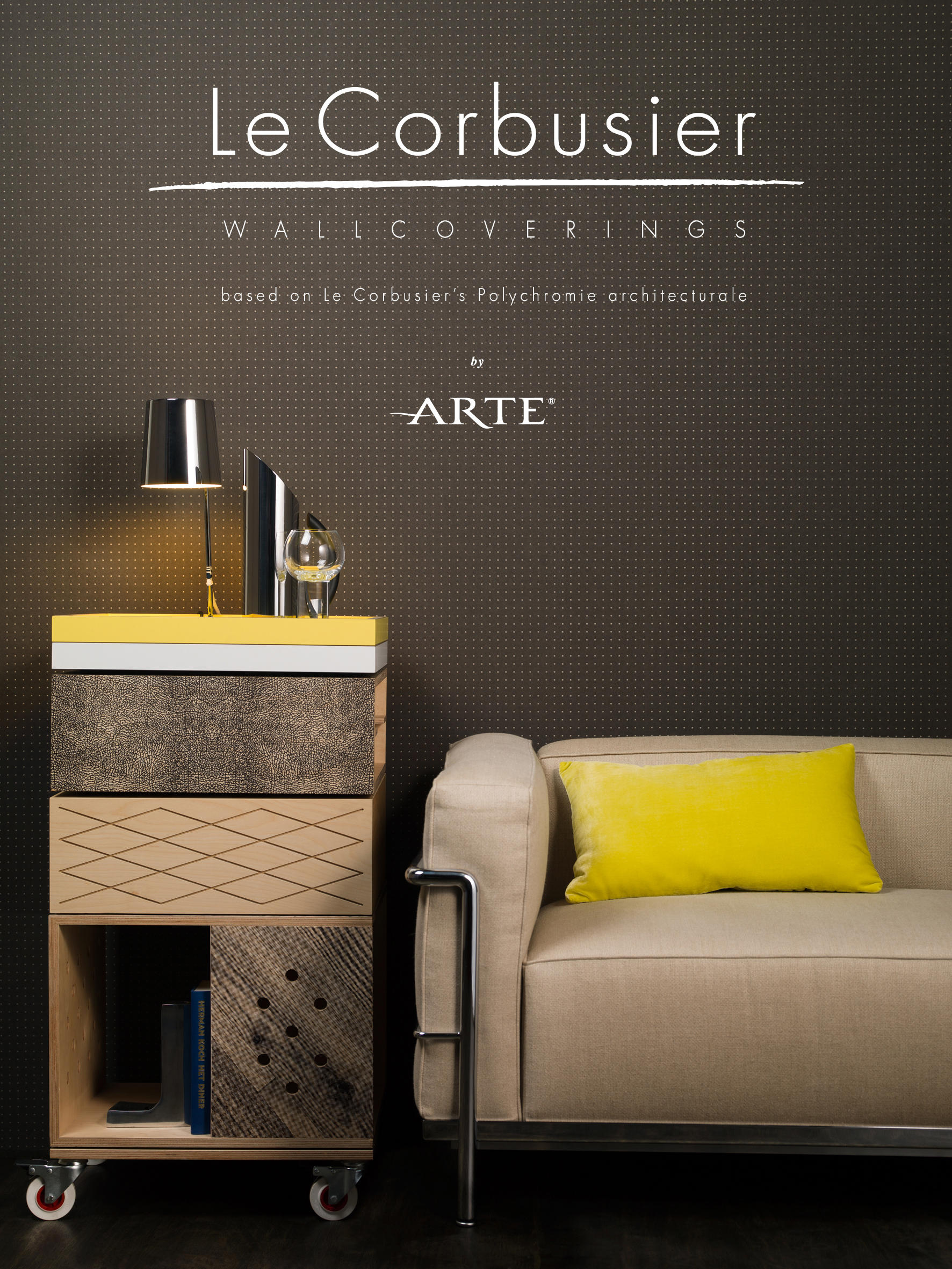 le corbusier dots wall coverings wallpapers from arte. Black Bedroom Furniture Sets. Home Design Ideas