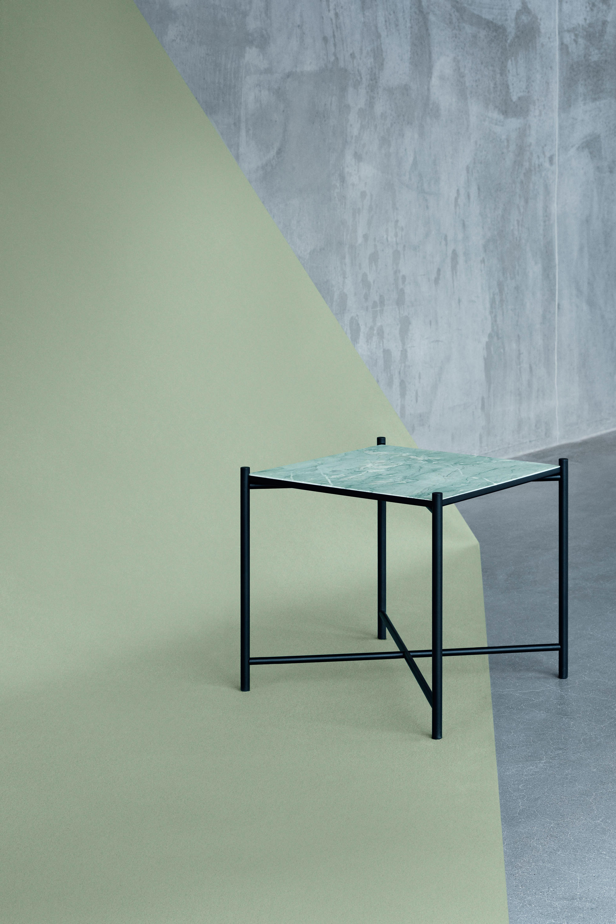 "SIDE TABLE BLACK BLACK MARBLE Night stands from HANDV""RK"