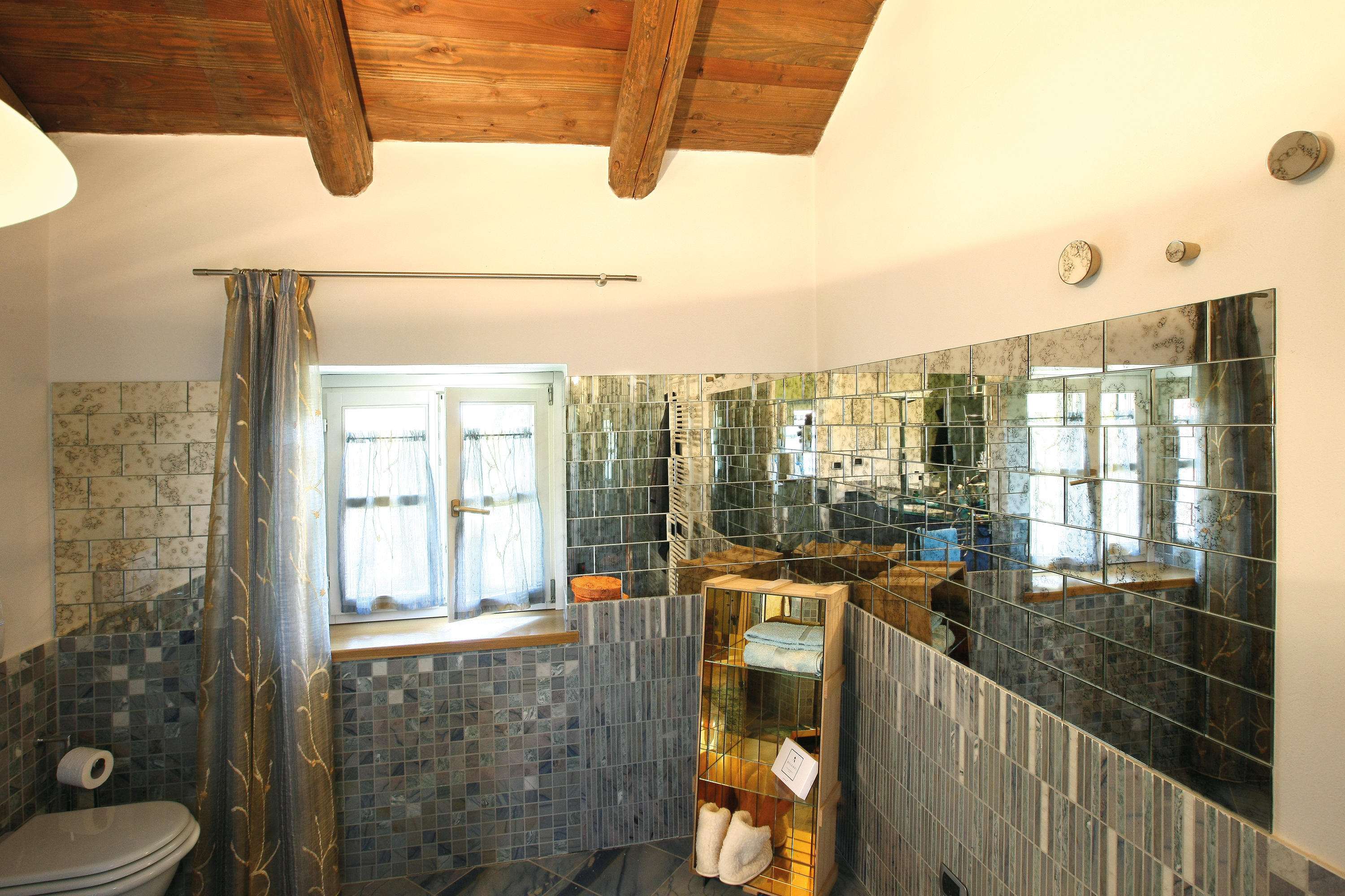 Tile Bianco E Nero 1 Glass Tiles From Antique Mirror