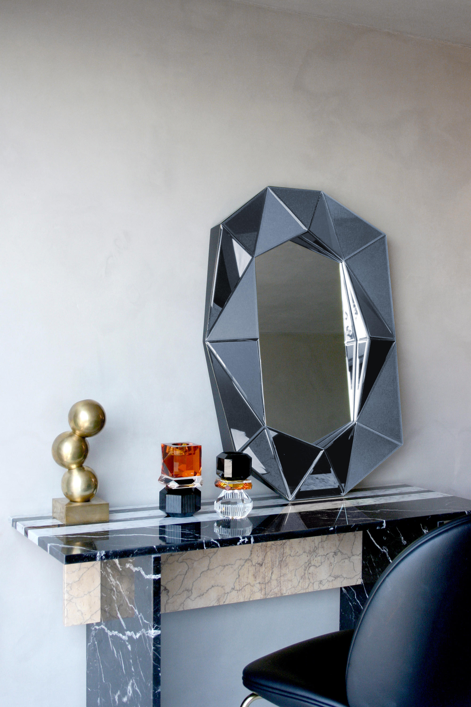 Diamond Large Silver Mirrors From Reflections Copenhagen