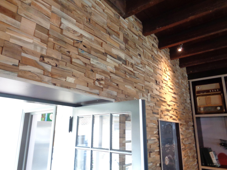 Bumpy wood panels teak your wall architonic