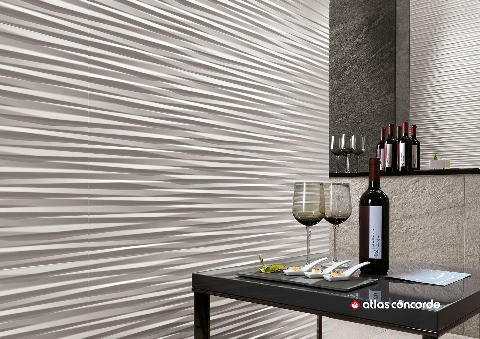 3D WALL ANGLE Ceramic tiles from Atlas Concorde