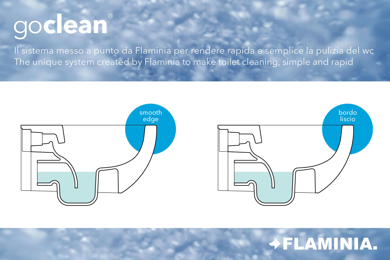 go clean app vaso - vasi ceramica flaminia | architonic - Arredo Bagno Flaminia