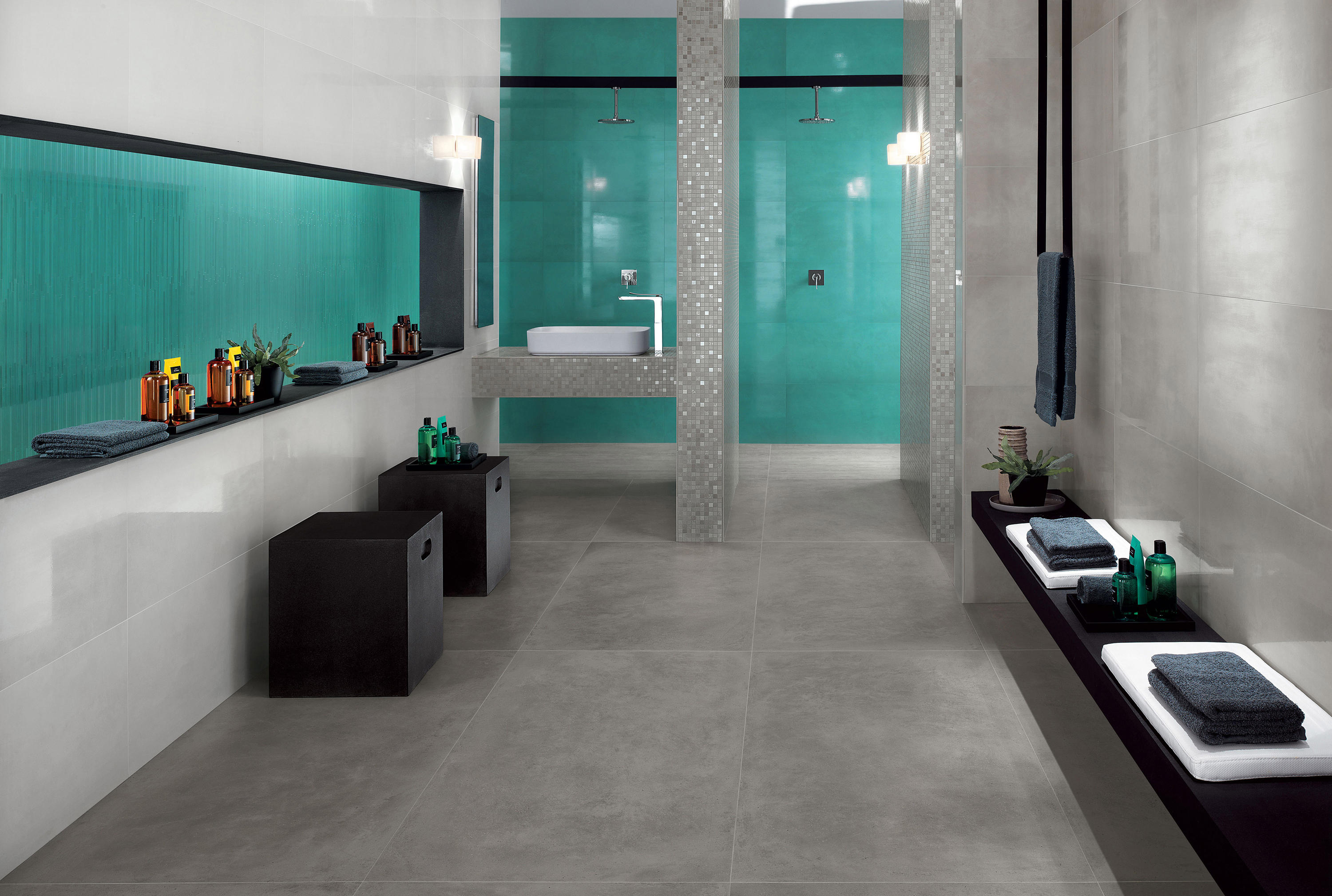 DWELL WALL TURQUOISE - Ceramic tiles from Atlas Concorde | Architonic