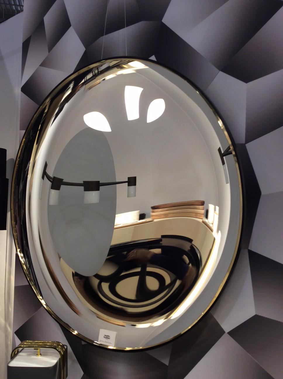 Eclipse Black Convex Mirror By Martin Huxford Studio ...