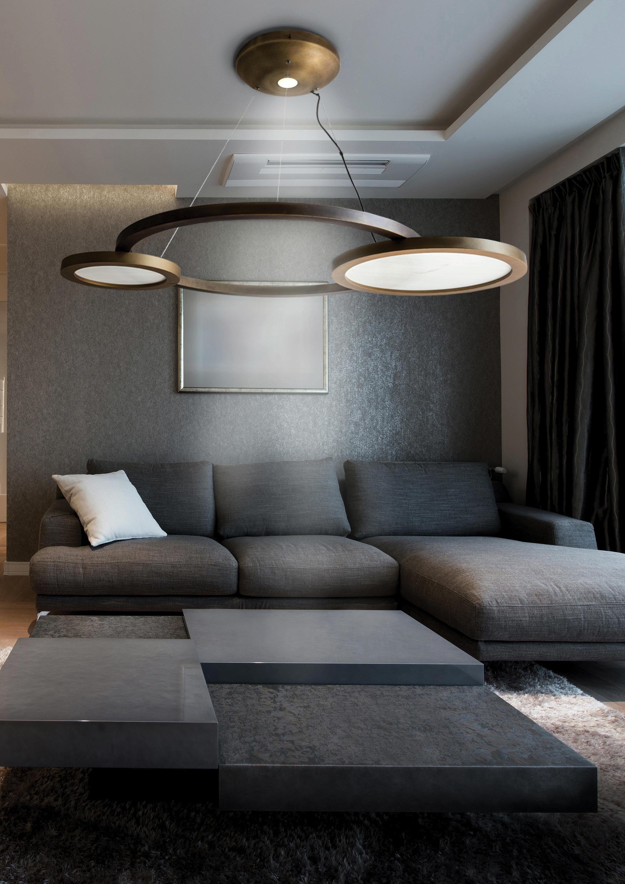 Eclisse Suspended Lights From Contardi Lighting Architonic