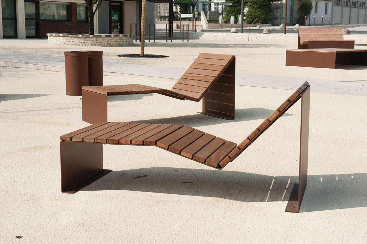 Absolut bain de soleil duo exterior benches from cyria architonic - Bain de soleil 2 places ...