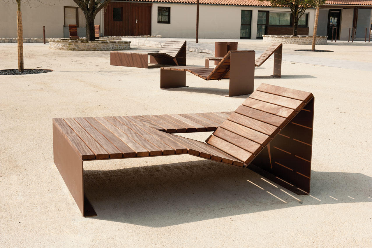 Absolut bain de soleil duo exterior benches from cyria - Bain de soleil piscine ...