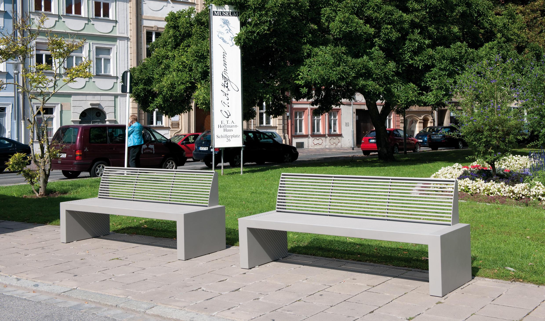 Sicorum m 700 stool bench panche da esterno benkert for Arredo urbano in inglese