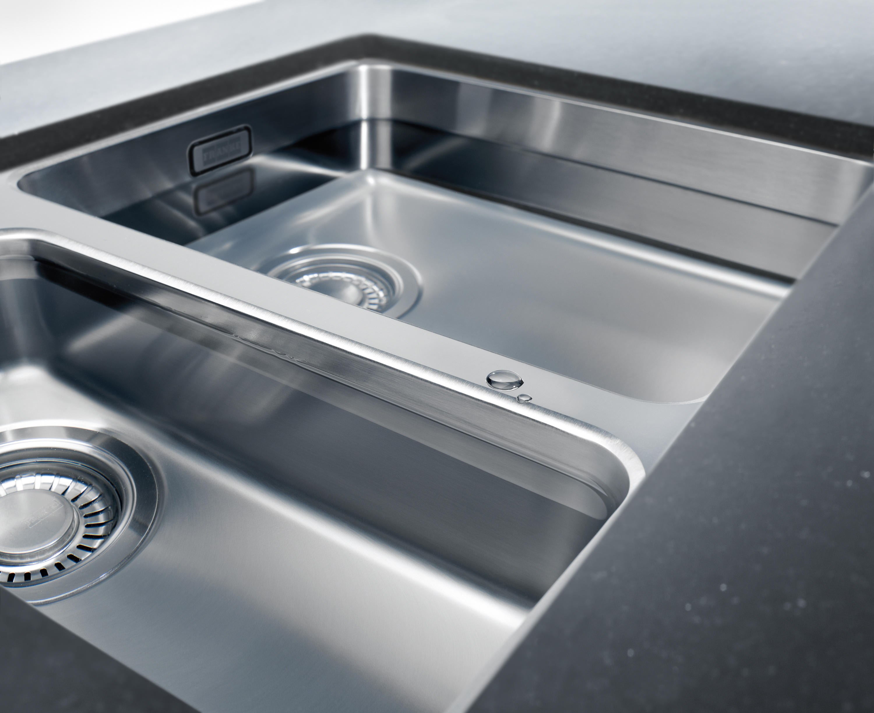 Kubus sink kbx 110 55 stainless steel by franke kitchen systems
