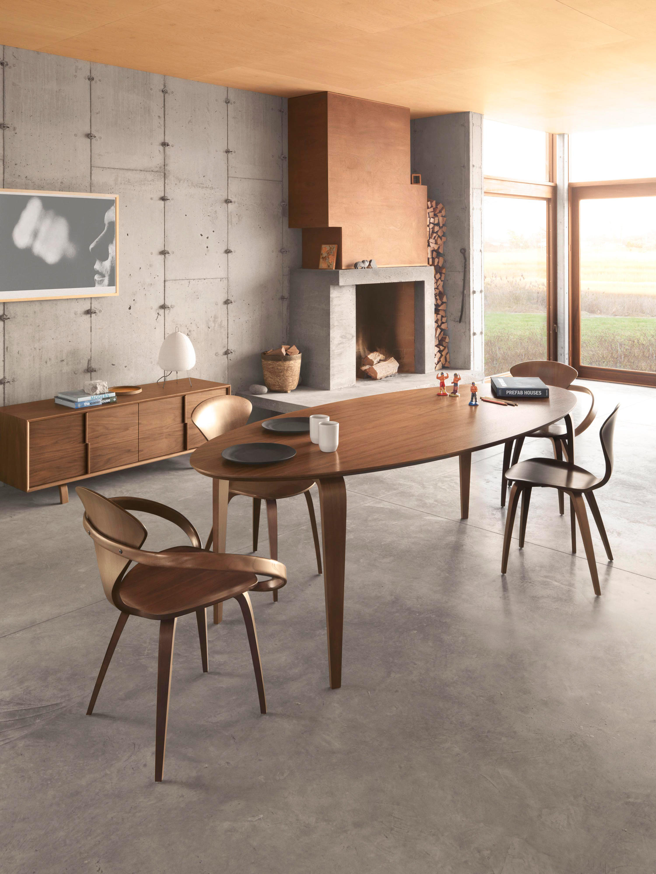Cherner Oval Table By