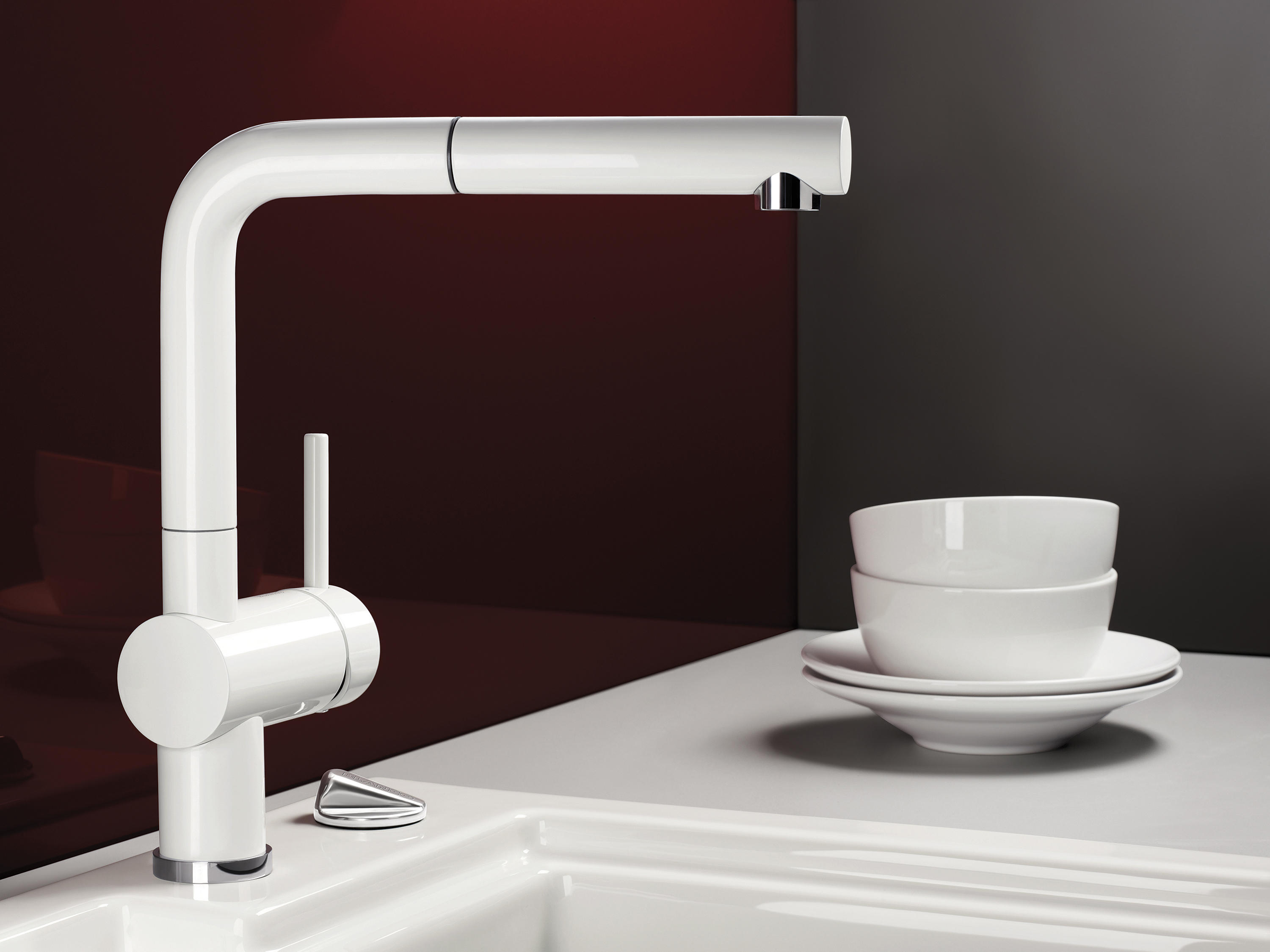 single faucet chrome culina in blanco of mini rinse picture kitchen pre hole