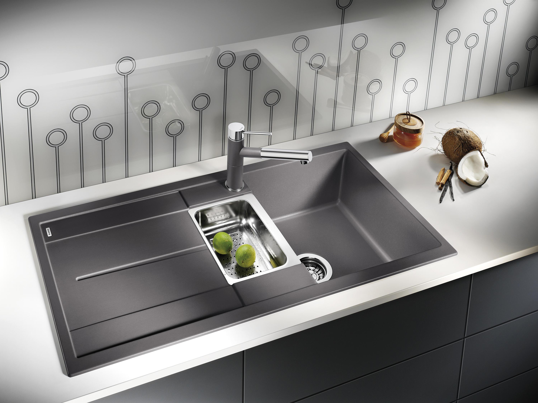 blanco metra 45 s silgranit anthrazit k chensp lbecken von blanco architonic. Black Bedroom Furniture Sets. Home Design Ideas