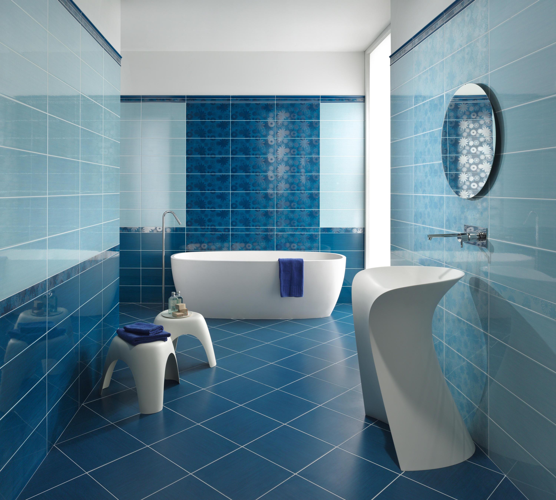 Pennellato azzurro piastrelle ceramica ascot ceramiche - Piastrelle bagno bricoman ...