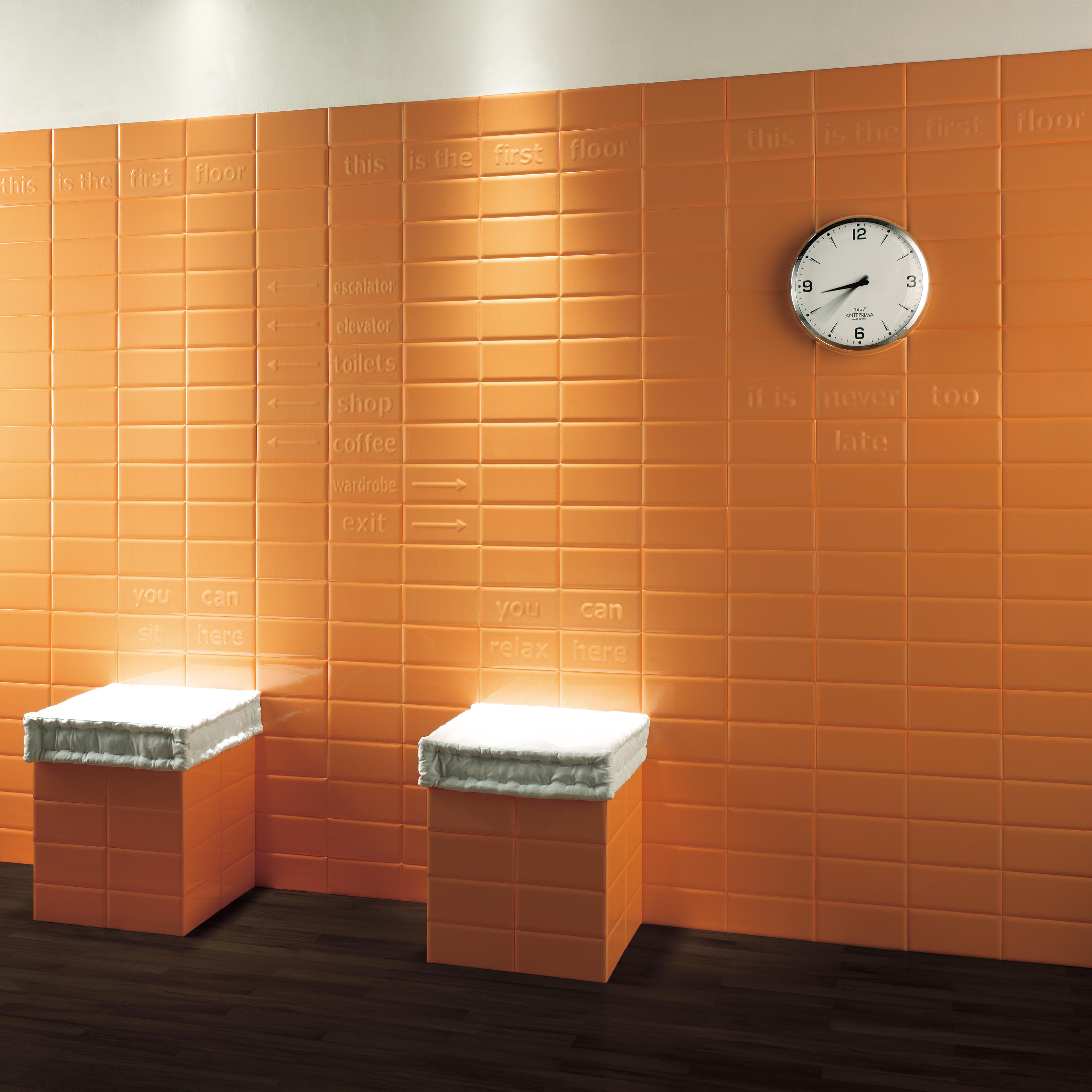 Pun acqua keramik fliesen von ascot ceramiche architonic for Carrelage salle de bain orange