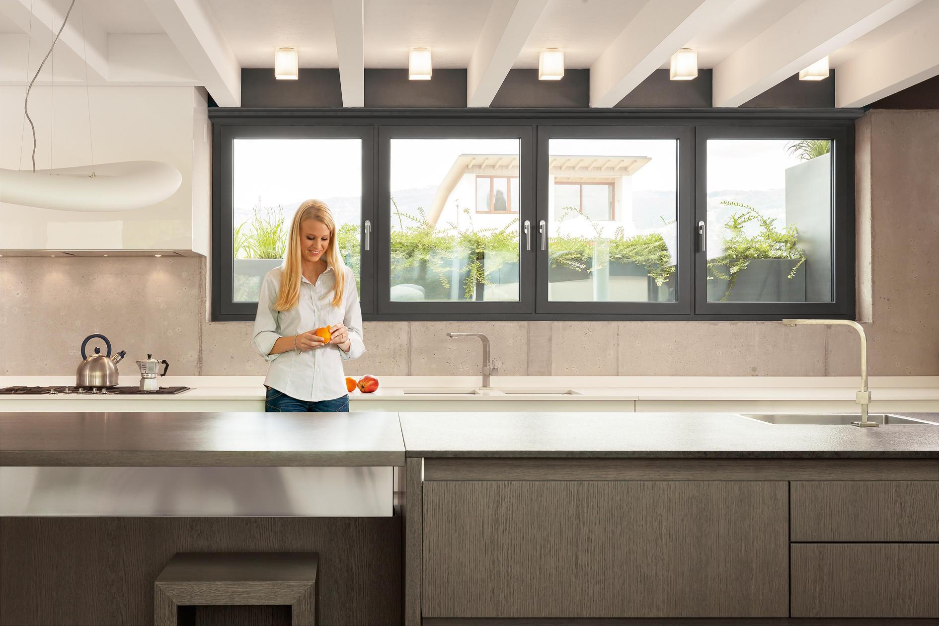 Fin project twin line nova jalousiesysteme von finstral for Prezzi porte finestre in alluminio