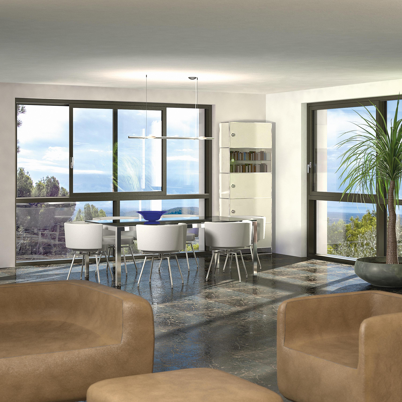 fa ade vitr e vista avec porte levante coulissante cristal int gr e baies vitr es de. Black Bedroom Furniture Sets. Home Design Ideas