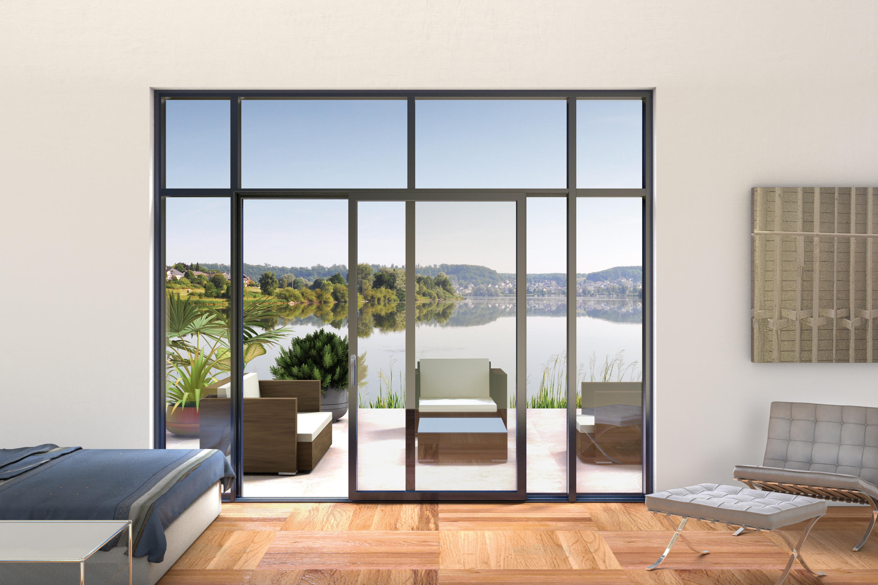Window Wall Vista With Integrated Lift And Slide Door Cristal