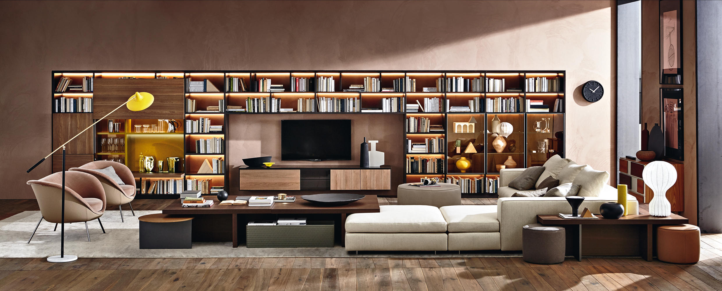 Image Result For Bookshelves With Tv