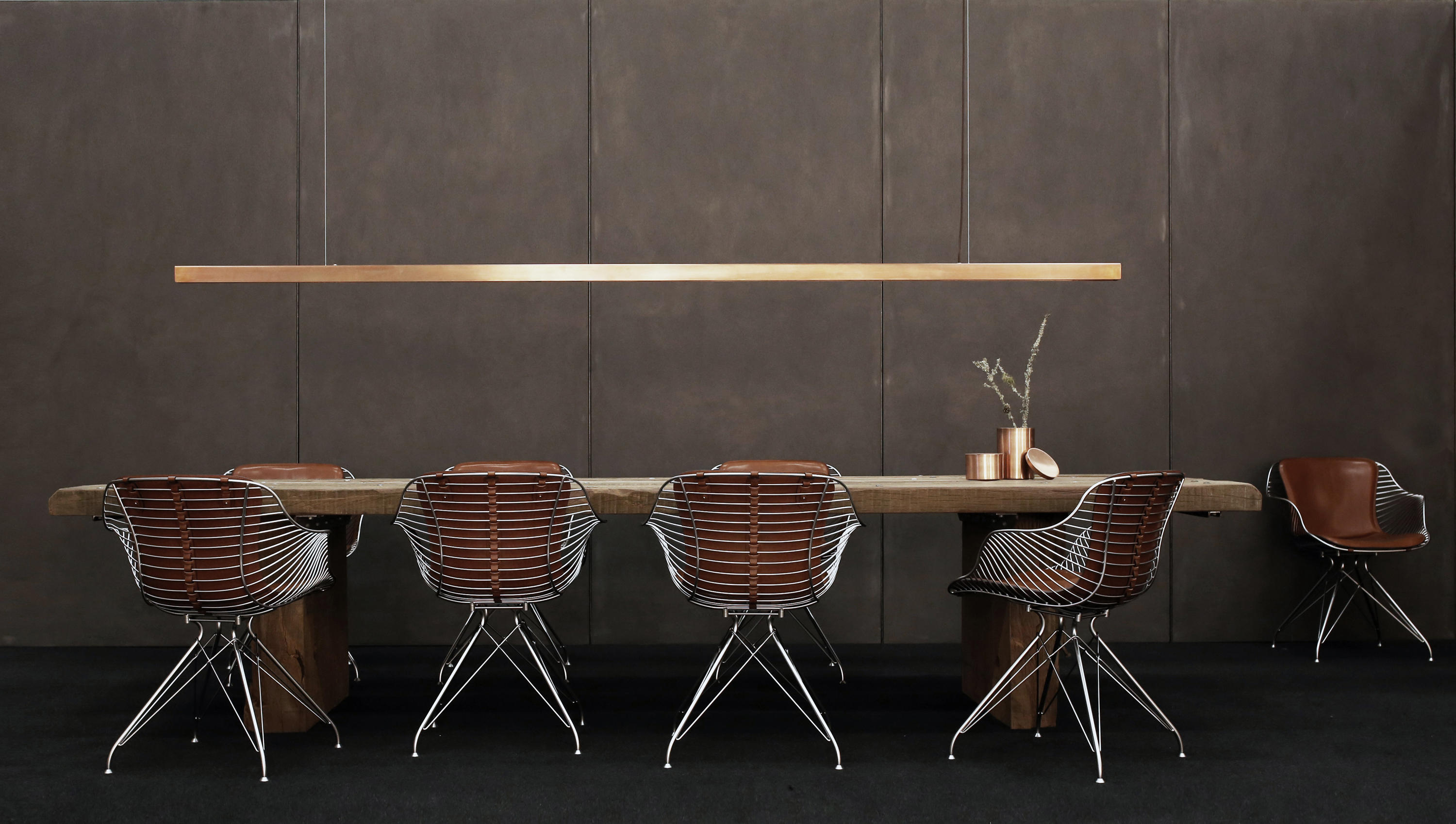 Wire dining chair chairs from overgaard dyrman architonic