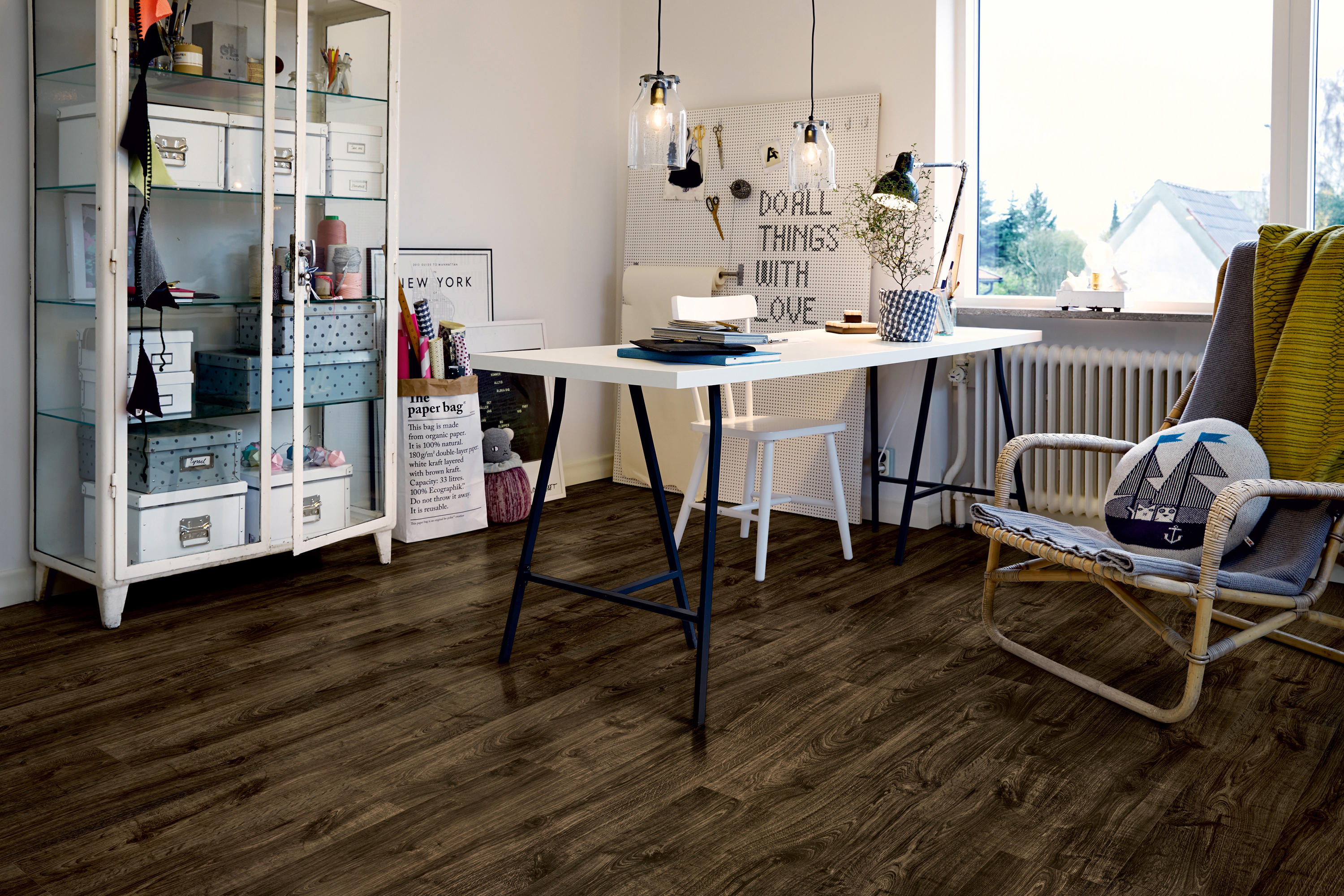 Modern Plank Vinyl Natural Village Oak Laminate Flooring