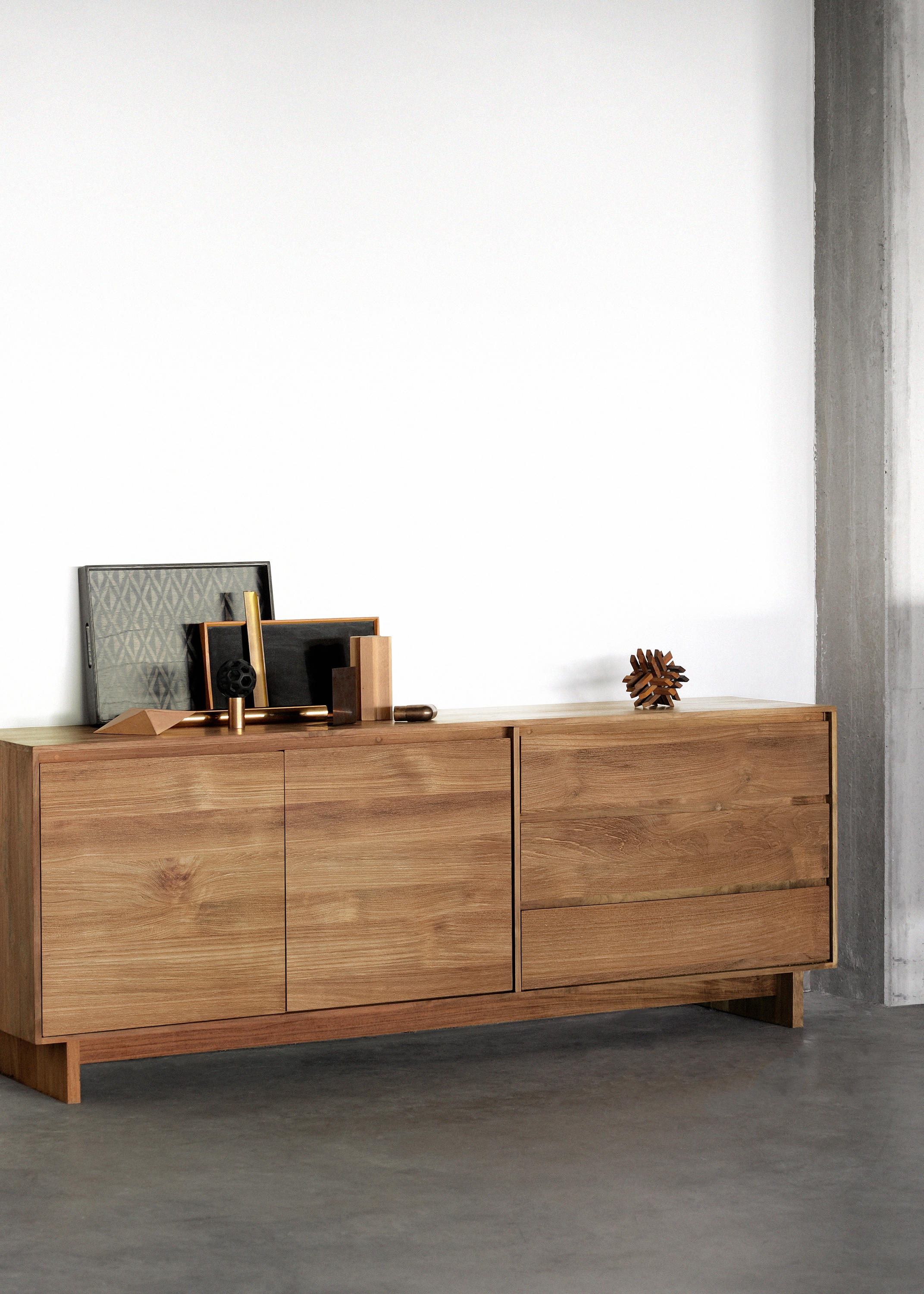Teak Wave Sideboard Sideboards From Ethnicraft Architonic # Meuble Tv Wave