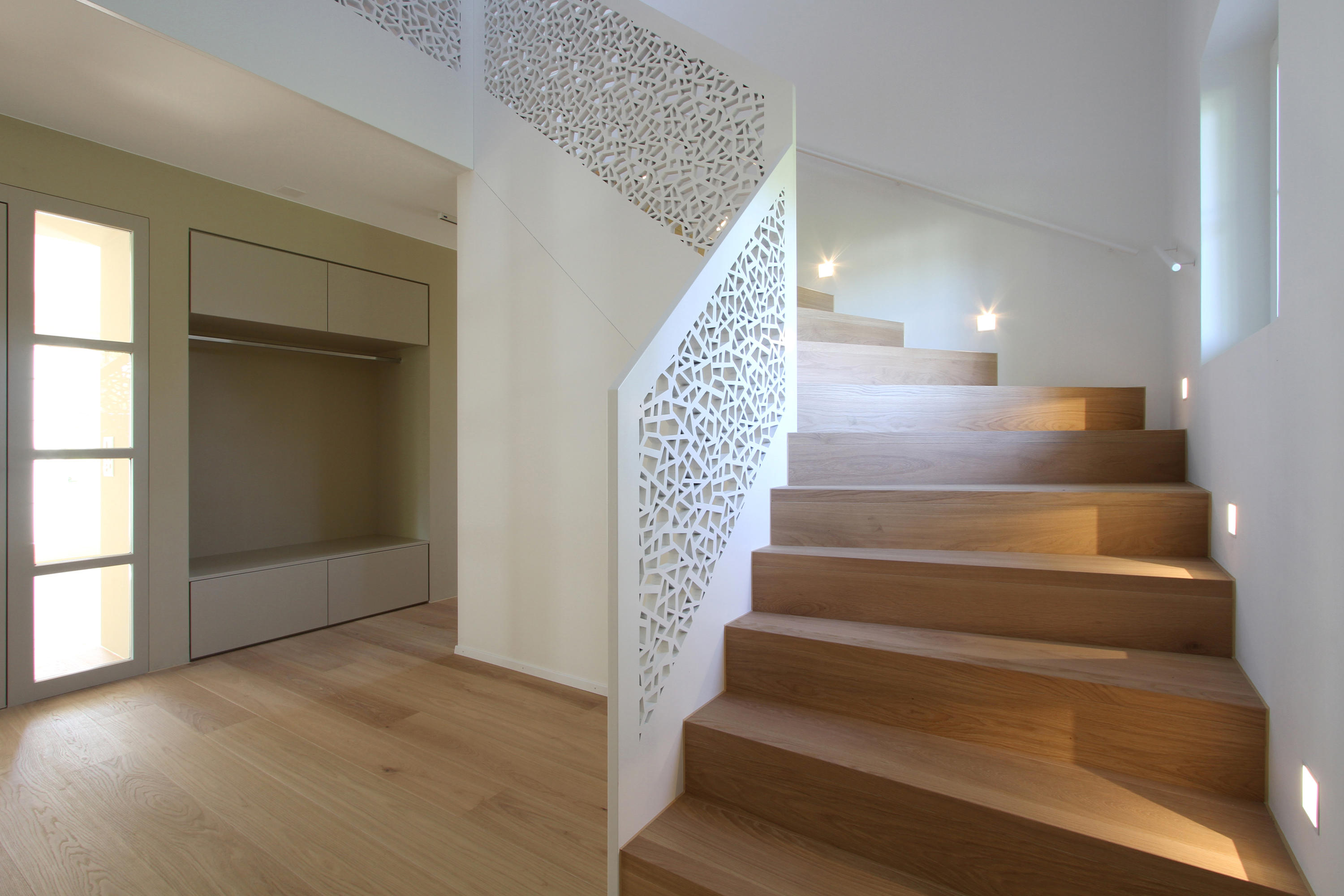 Treppenbrüstung bruag perforation wood panels from bruag architonic