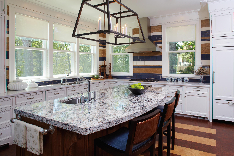 quartz backsplash gray riverview seams summerhill arabesque tile no kitchen international white countertops cambria in countertop