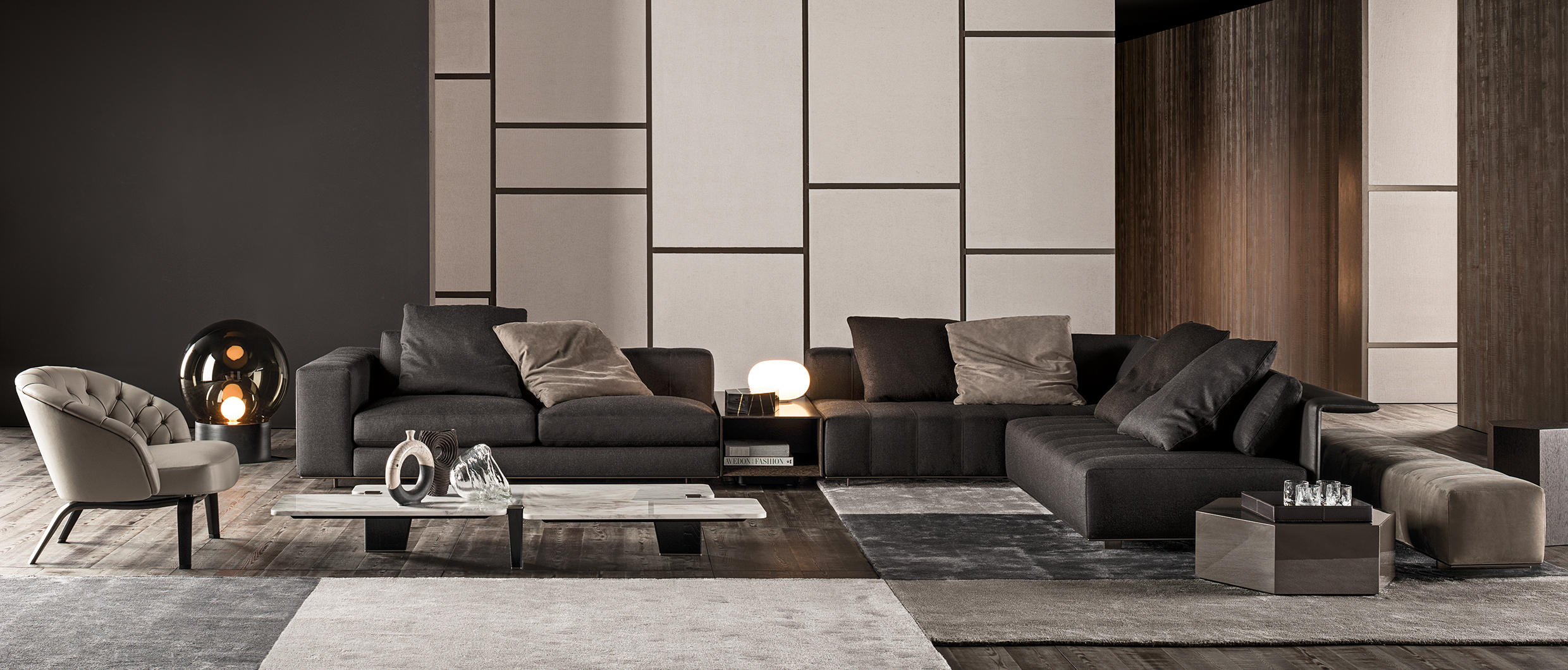 FREEMAN DUVET SOFA Lounge sofas from Minotti