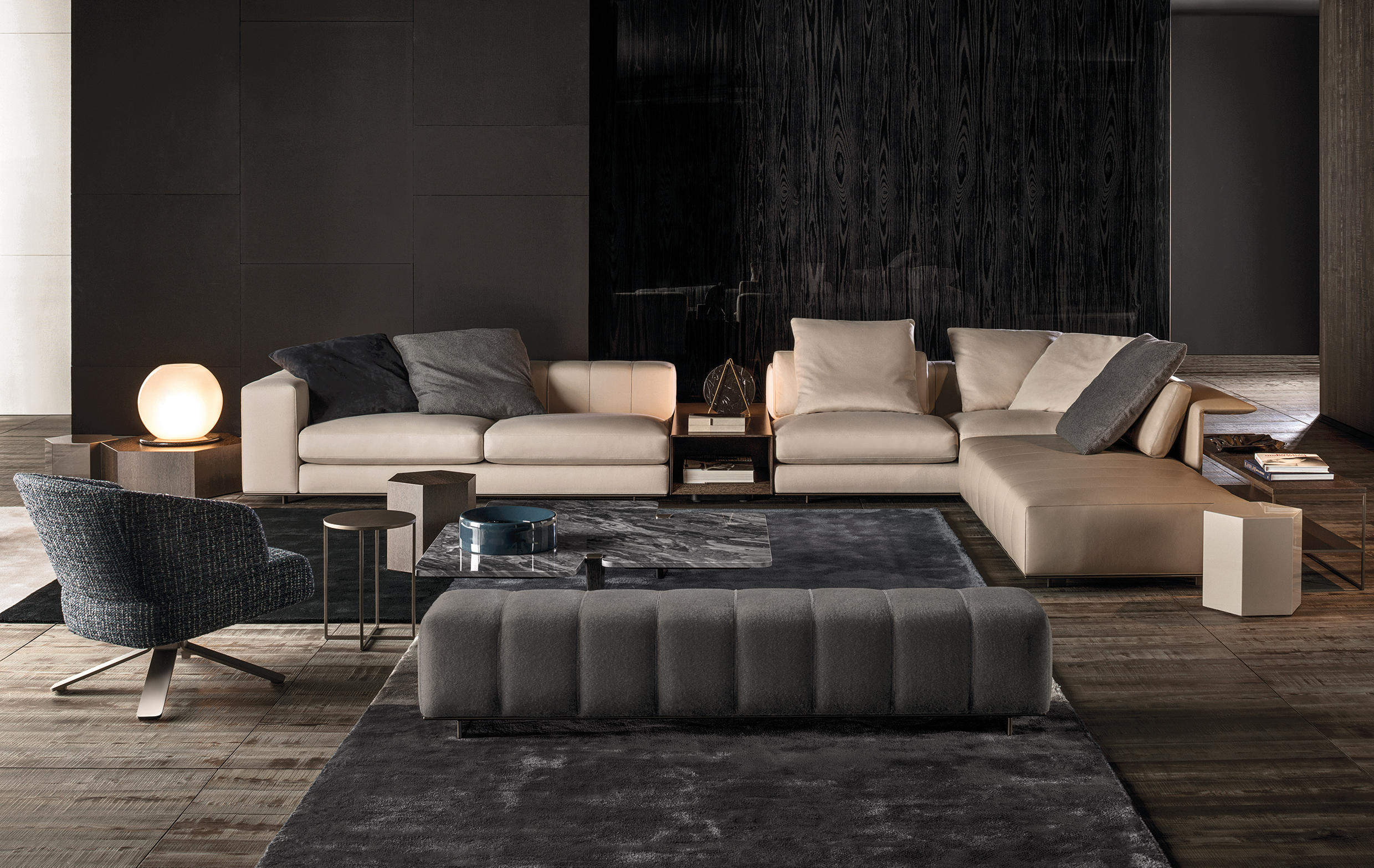 Freeman Duvet Sofa Sof 225 S De Minotti Architonic
