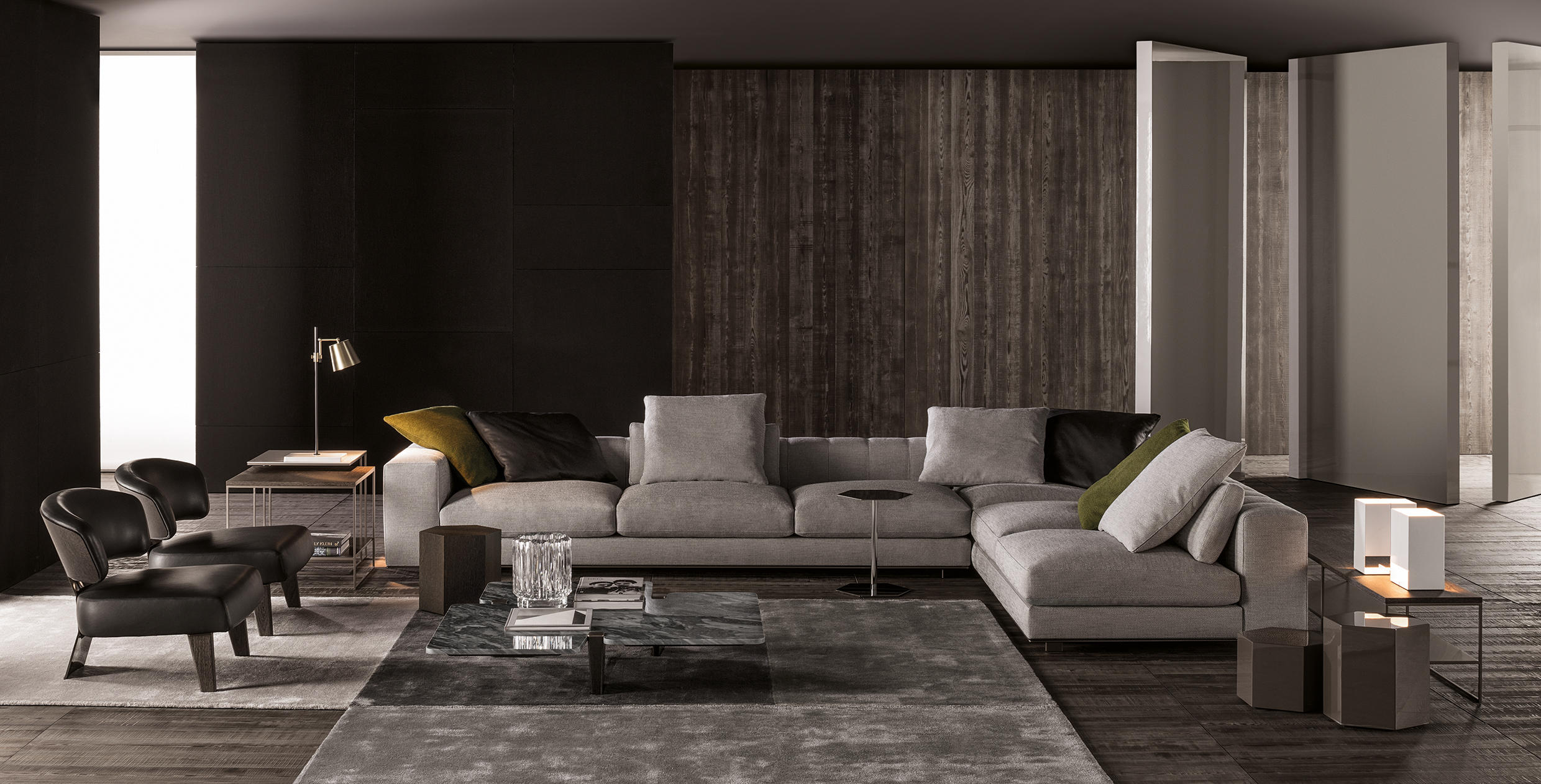 freeman duvet sofa sofas from minotti architonic. Black Bedroom Furniture Sets. Home Design Ideas
