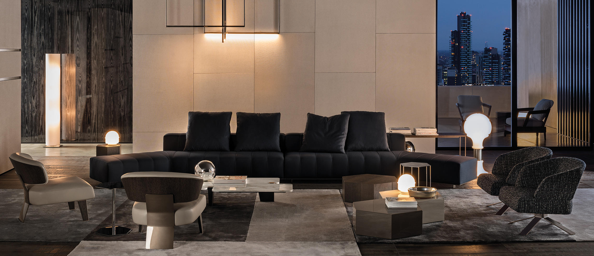 Superbe ... Freeman Lounge Sofa By Minotti ...