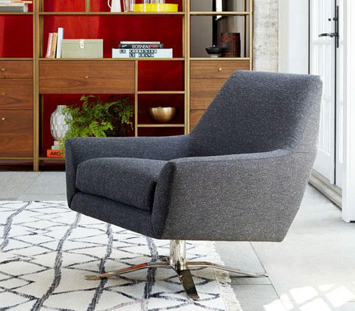 Lucas Leather Swivel Base Chair By Distributed Williams Sonoma Inc To The