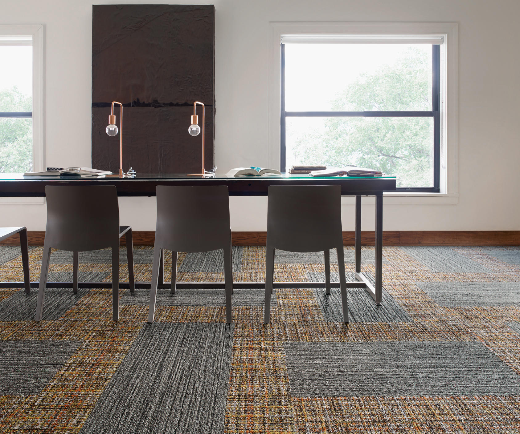 World Woven 895 Heather Weave Carpet Tiles From