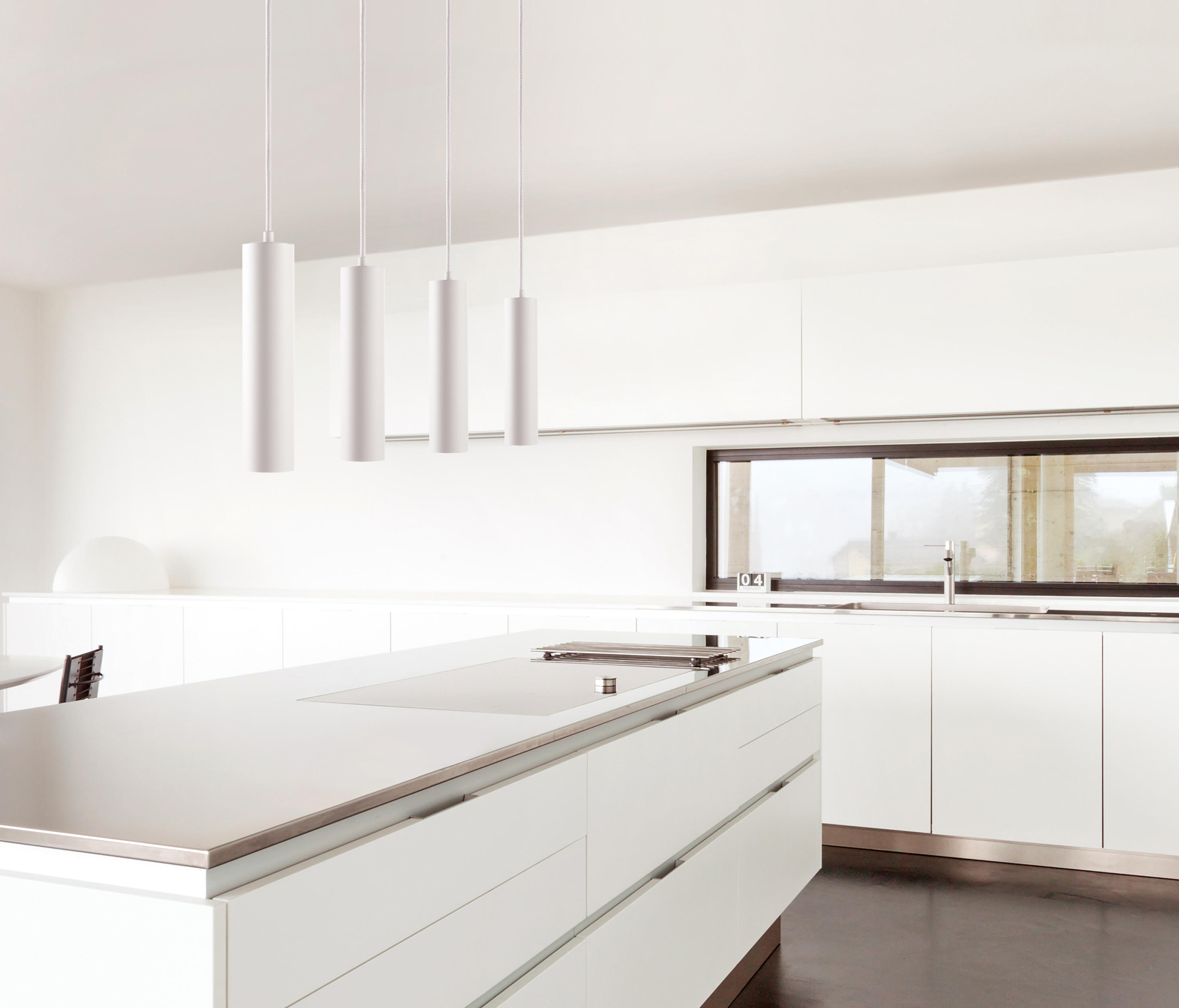 The Living Room W1: ZERO S1 - Suspended Lights From Light-Point