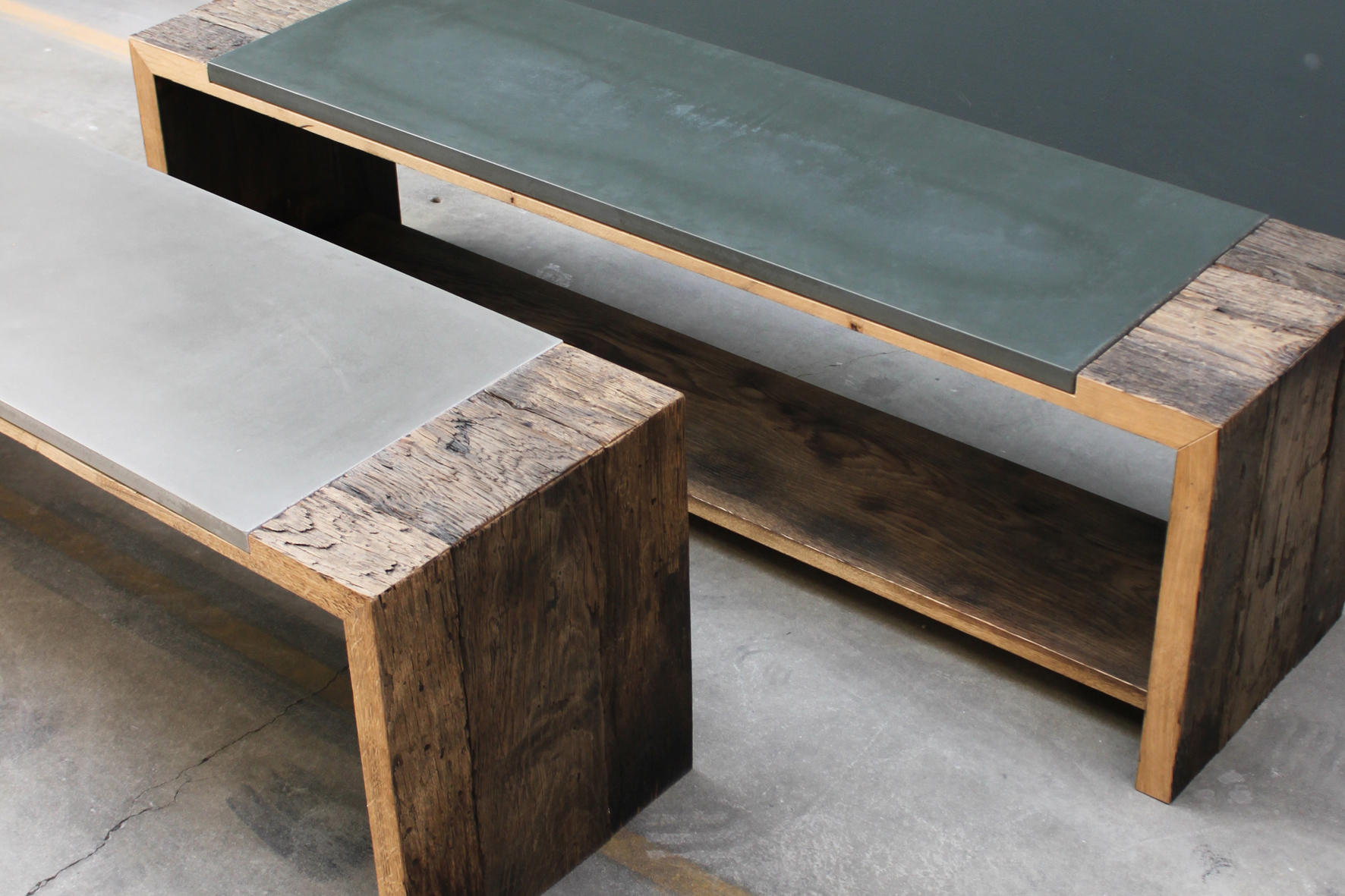 Beton sideboard interesting bench by concrete home design for Sideboard regal