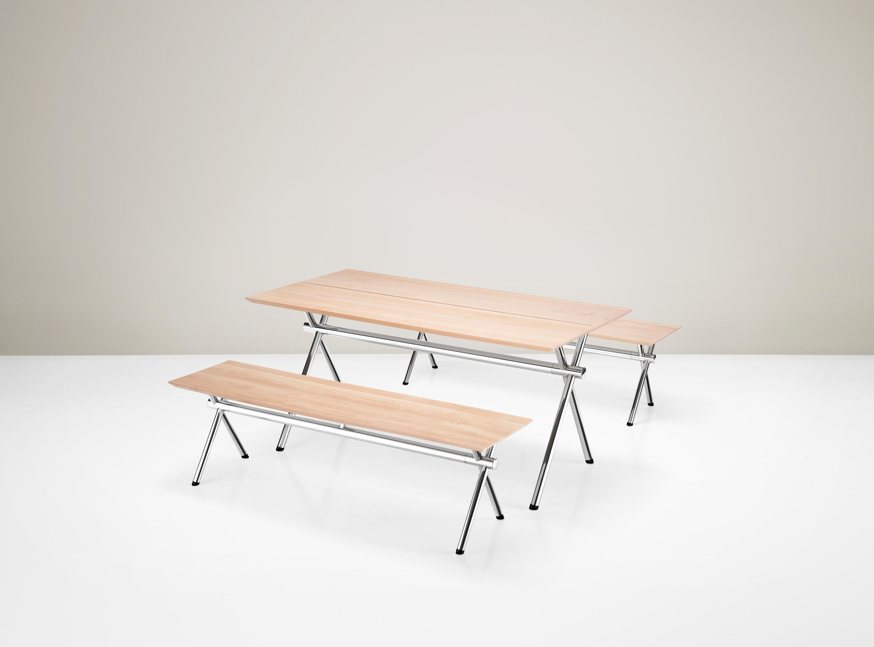 X TABLE AND BENCH Restaurant tables and benches from Piiroinen