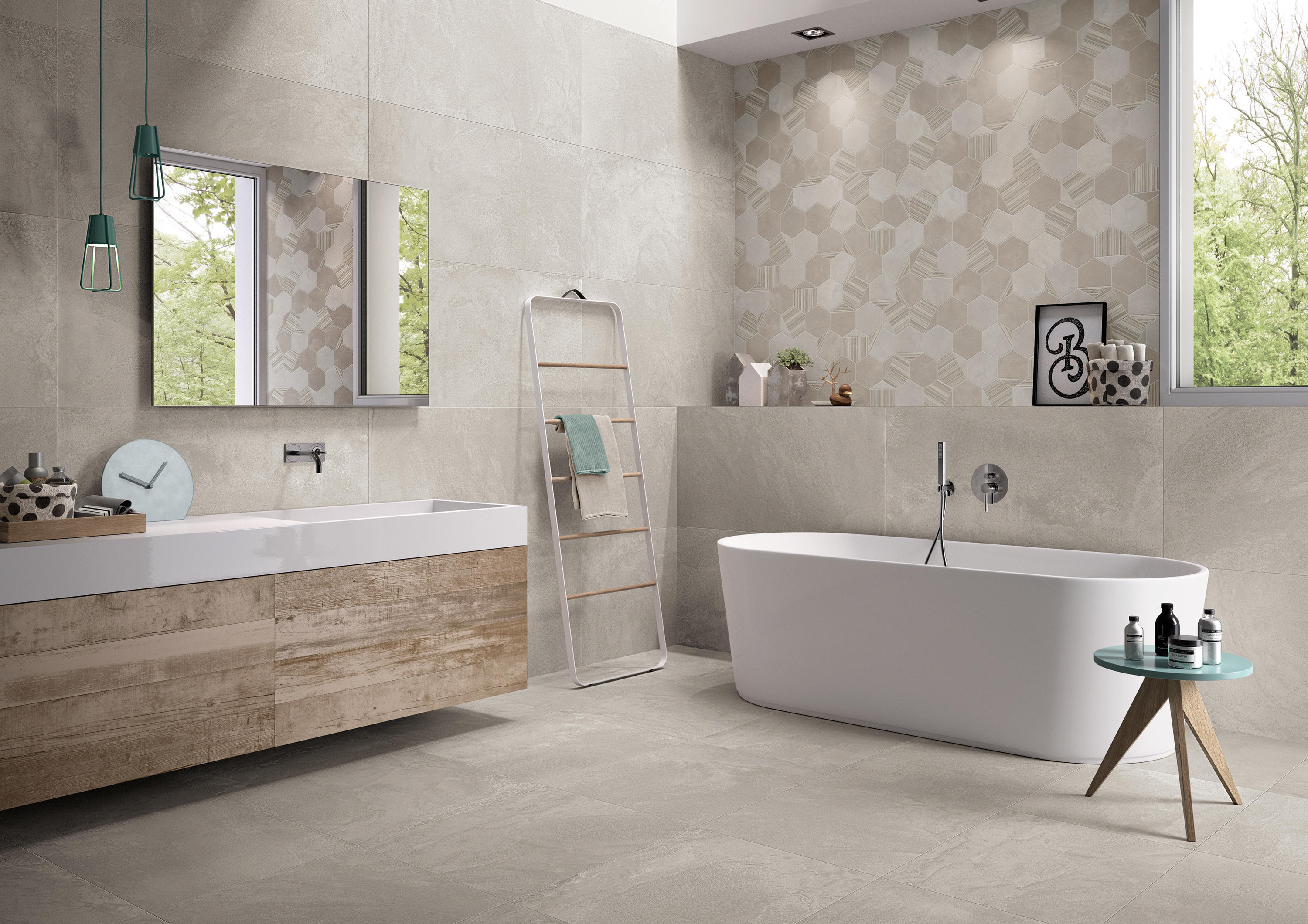 3 bianco floor tiles from emilgroup architonic for Decoration murale toilette