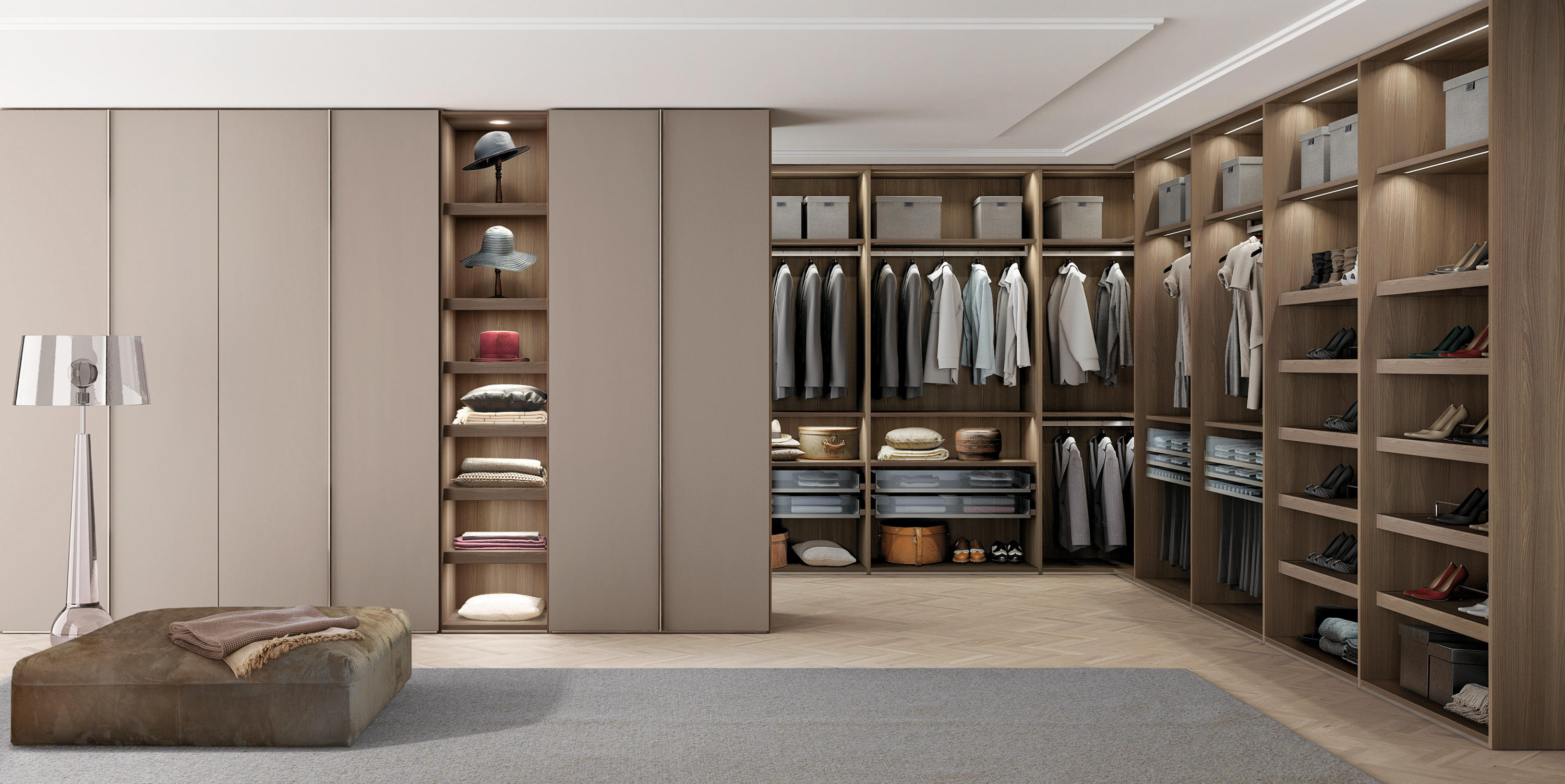 Z595 Combi System Walk In Wardrobes From Zalf Architonic