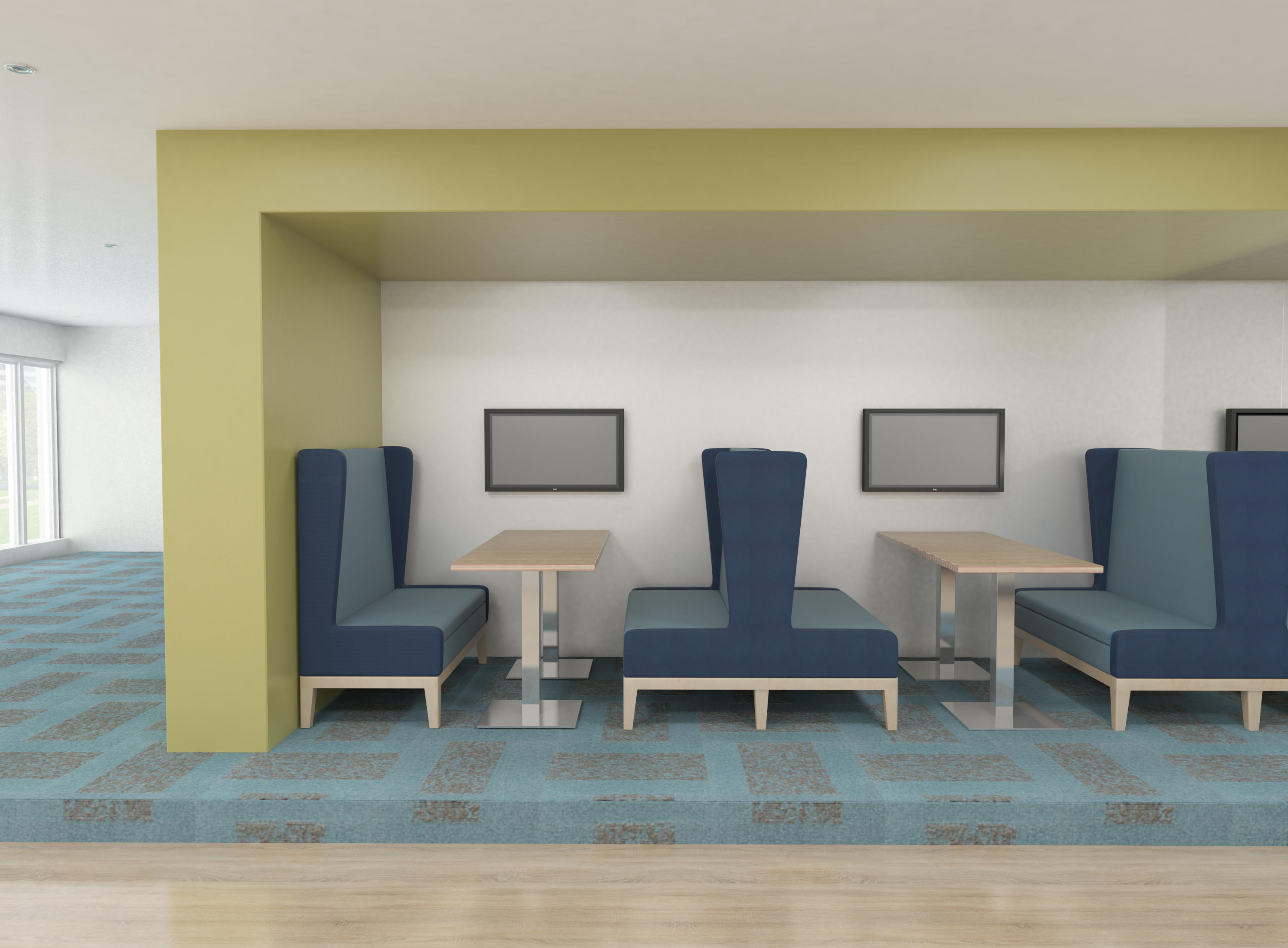 Symphony Two Seat High Back Banquette To By Erg International